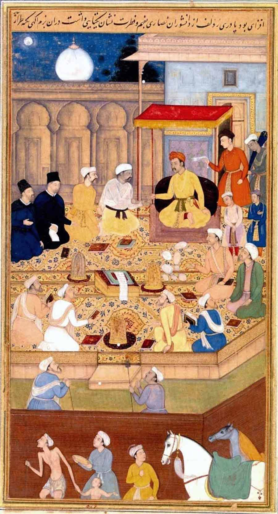 Akbar-at-Ibadat-Khana-with-Jesuits
