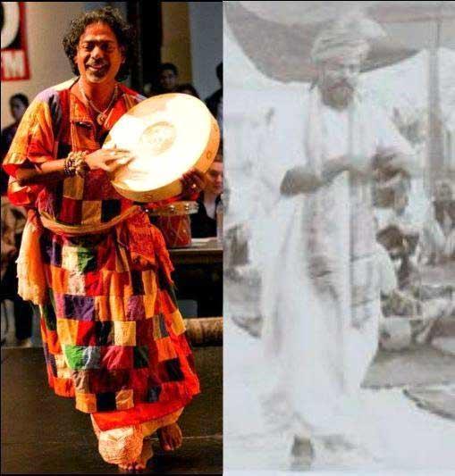 Nabani Das Khyappa Baul and Brajabala Das