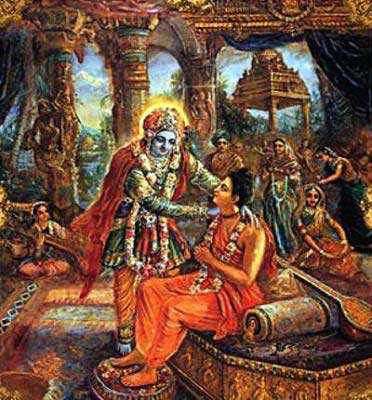 Krishna and Narada