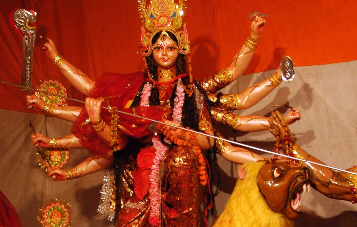 Durga at Ram's Durga Pandal