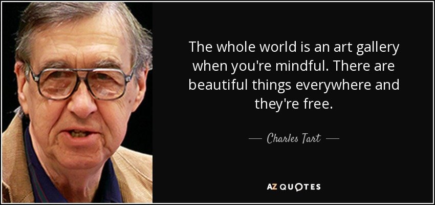Quote from Charles Tart
