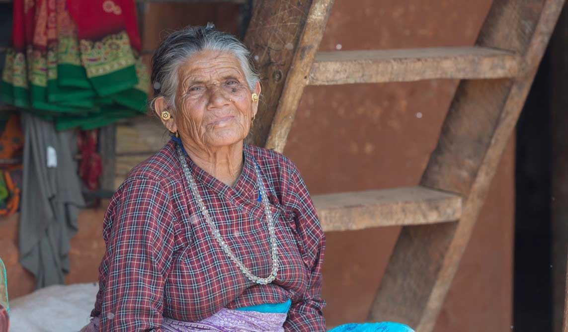 Grandma at Her Farm in Nepal