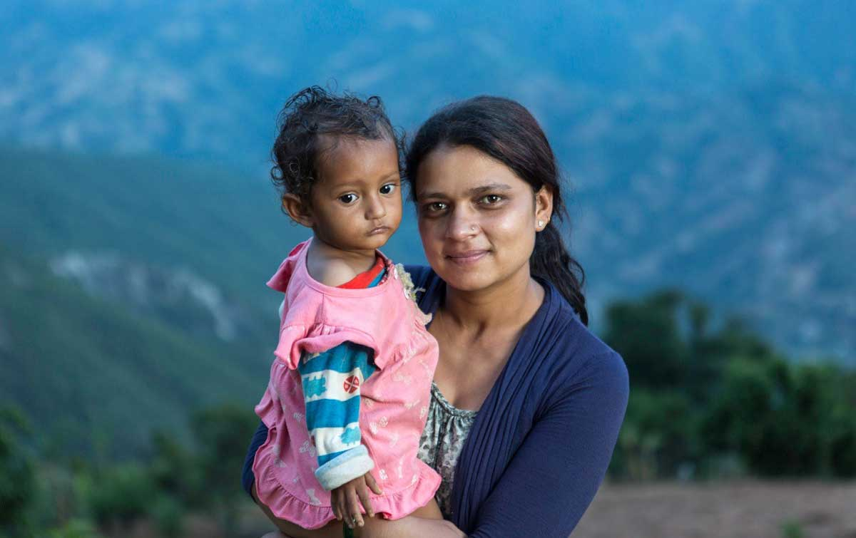Laxmi and Barsa at Her Farm in Nepal