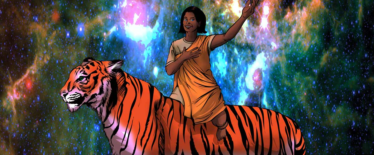 Priya's Shakti riding Tiger