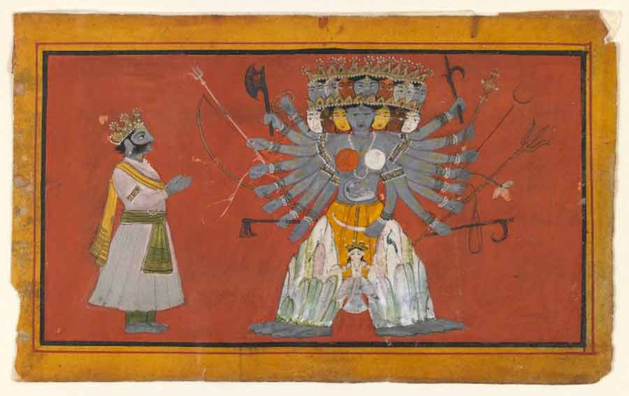 Brooklyn Museum - Vishvarupa The Cosmic Form of Krishna