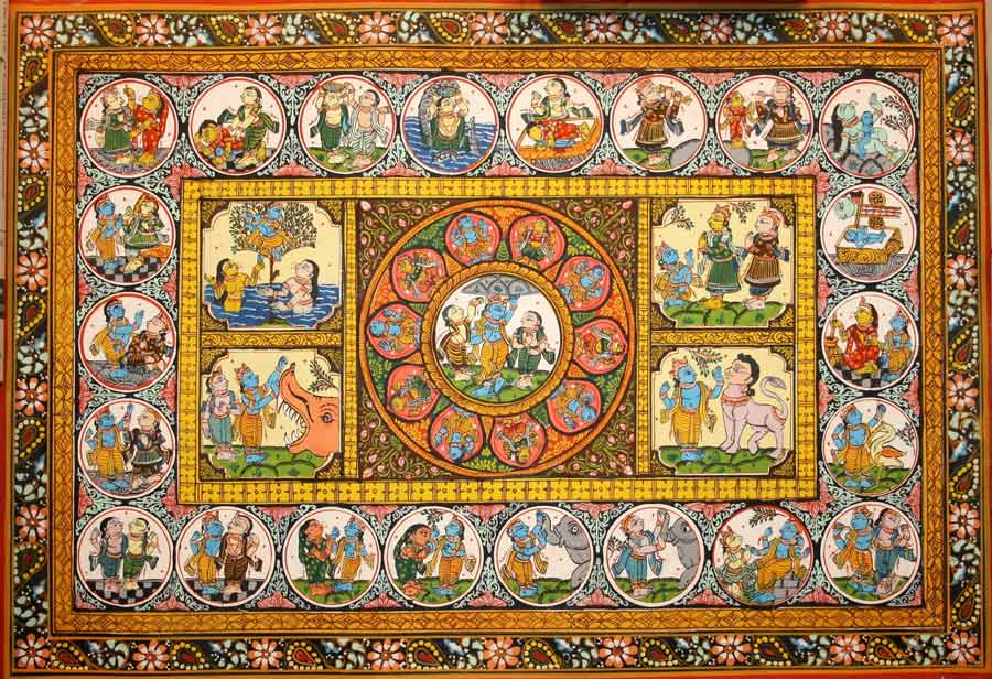 Pattachitra, Orissa, India