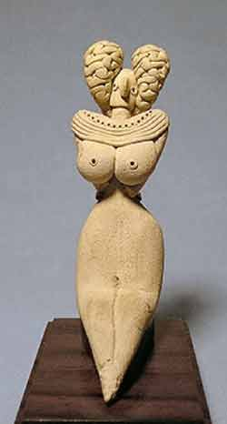Clay statue of a Goddess