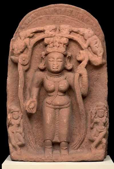 Goddess Lakshmi with elephants