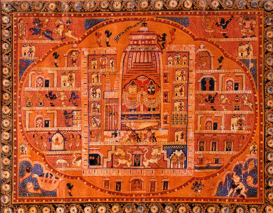 Jagannatha Balabhadra, and Subhadra in the Jagganatha Temple. LACMA