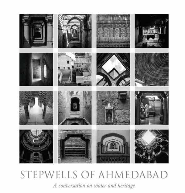 A photo collage of the sixteen stepwells that were documented