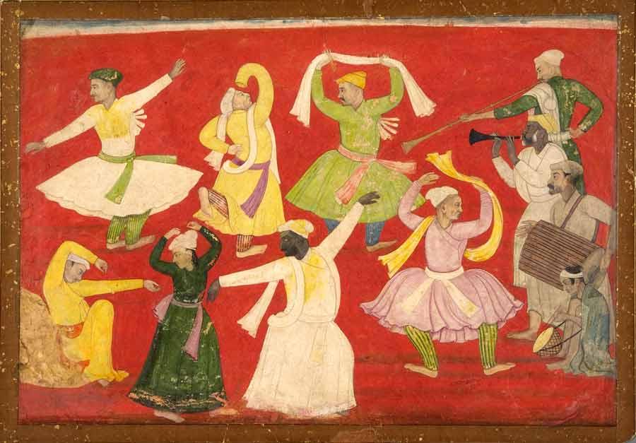 Dancing Villagers. Pandit Seu