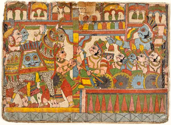 arjuna syamakarna babhruvahana