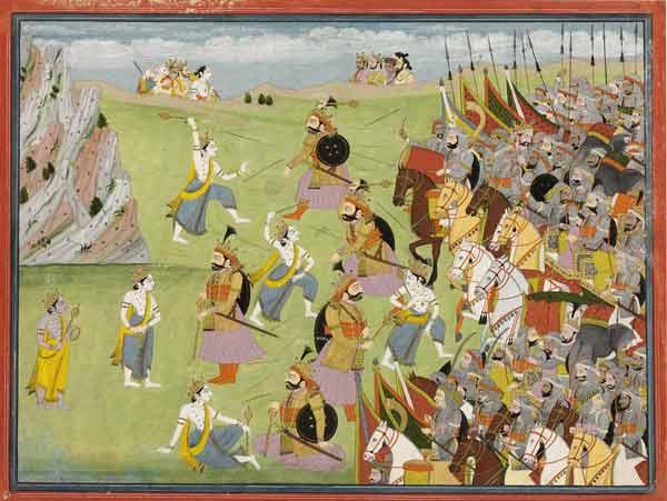 Balabhadra fighting Jarasandha
