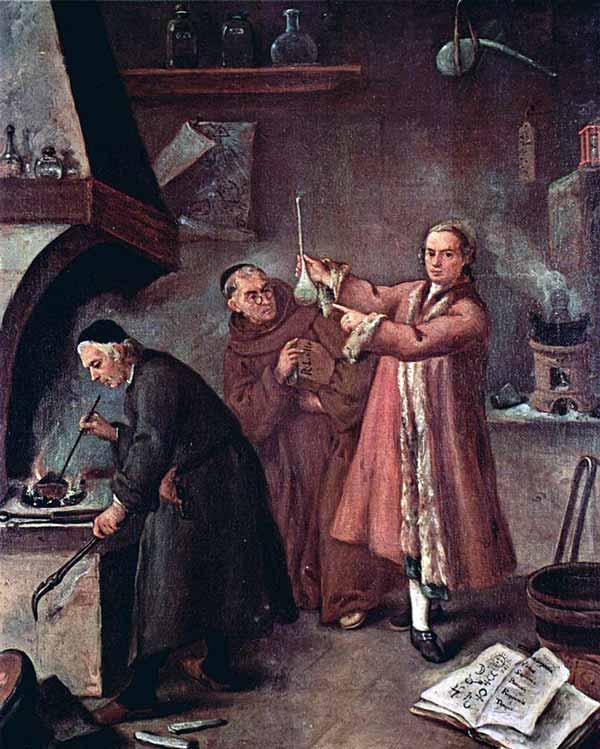 L'alchimista by Pietro Longhi
