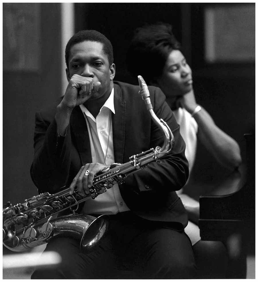 John Coltrane with Alice Coltrane, Van Gelder Studio, Englewood cliffs, 1966