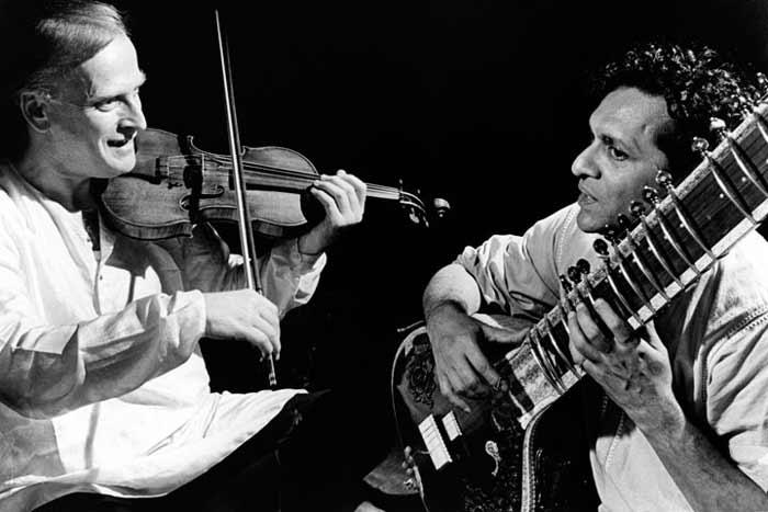Ravi Shankar and Yehudi Menuhin