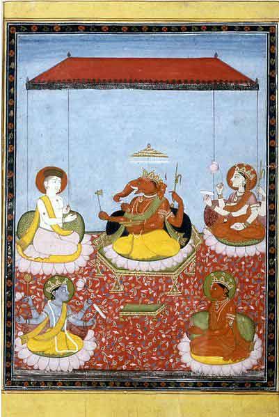 Ganesha Holds Court cca.1800 Walters Art Museum