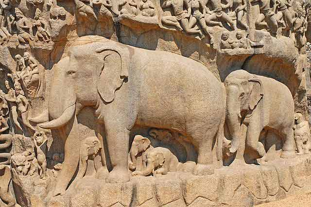 L'Ascèse-d'Arjuna Mahabalipuram