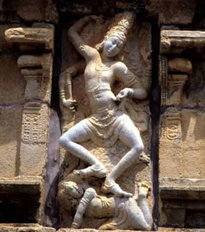 Shiva dances on the demon of ignorance Chola Temple