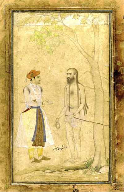 Sultan Parviz with an Ascetic Mugal painting