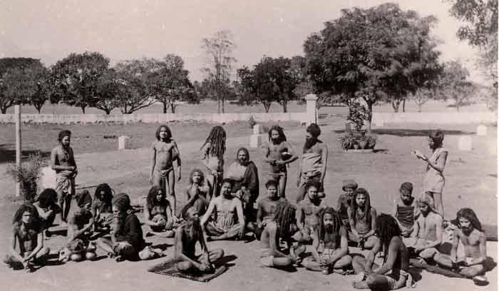 A group of sadhus