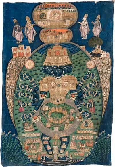 Krishna in his cosmic form