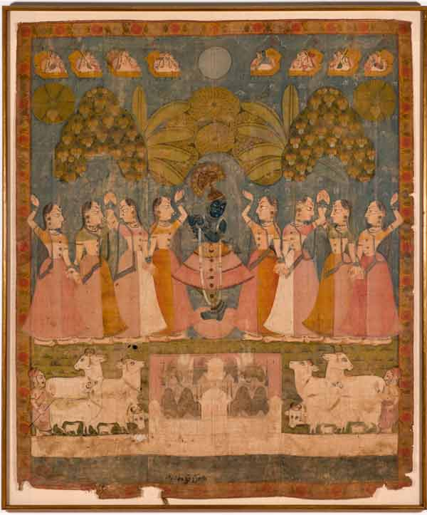 Cowherd Girls Adoring Krishna