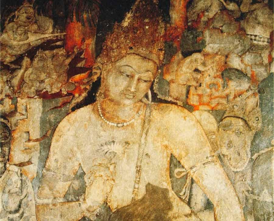 Bodhisattva Padmapani, cave 1, Ajanta, India