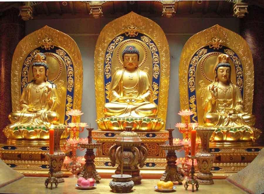 Amitabha Buddha and Bodhisattvas