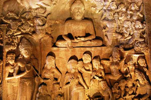 The carvings, Ajanta caves