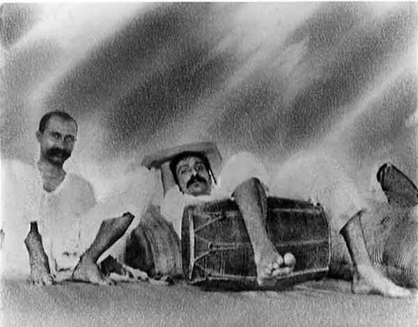 Meher Baba with Gustadji in 1922. Baba's favorite photo of himself.