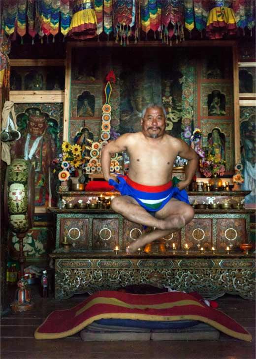 Bhutanese Yogi Practicing Trulkhor