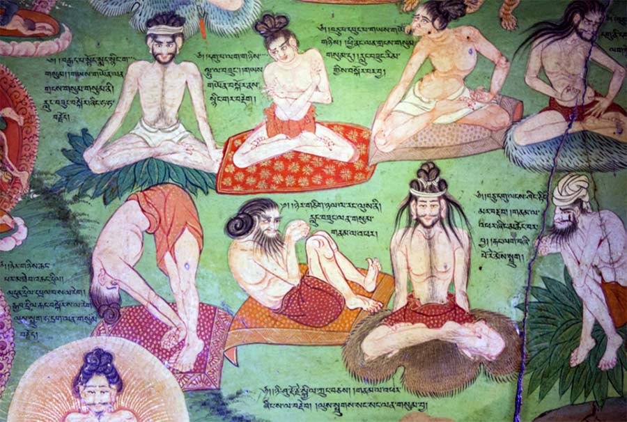 Lukhang Murals Showing Yogic Movements called Trulkhor